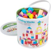 New Classic Toys - Bouwblokken in Ton - Multikleur - 100 blokken