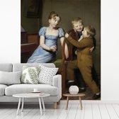 Fotobehang vinyl - Het gestoorde pianospel - Schilderij van Willem Bartel van der Kooi breedte 320 cm x hoogte 400 cm - Foto print op behang (in 7 formaten beschikbaar)