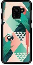 Galaxy A8 2018 Hardcase Hoesje Exotic Trendy Parrots