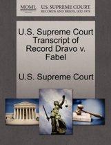 U.S. Supreme Court Transcript of Record Dravo V. Fabel