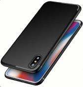 Ultradunne TPU Case | iPhone X | iPhone XS | Zwart | Mat Finish Cover | Luxe Siliconen Hoesje
