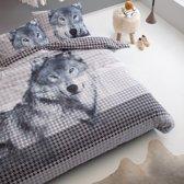 Damai Wolf Dekbedovertrek - Litsjumeaux - 240x200/220 cm - Grey