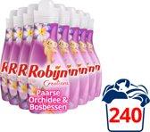 Robijn Creations Paarse Orchidee Wasverzachter - 750 ml - Wasmiddel - 8 stuks - Voordeelverpakking