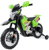 Crossmotor groen 6V, elektrische kinder motor