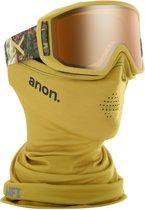 Anon Relapse goggle camo / sonar bronze (met MFI mask en extra amber lens)