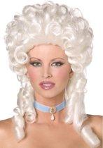 Witte barokpruik voor vrouwen - Verkleedpruik - One size