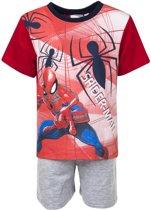 Spiderman shortama maat 98 rood