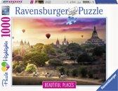 Ravensburger puzzel luchtballonnen Myanmar - legpuzzel - 1000 stukjes