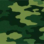 Amscan Servetten Leger 33 Cm Groen 16 Stuks