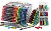 Colortime dubbelstift, lijndikte: 2,3+3,6 mm, diverse kleuren, 260stuks