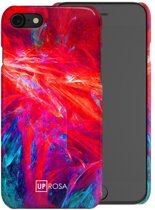 UPROSA Fractal Flame mobiele telefoon behuizingen 11,9 cm (4.7'') Hoes Blauw, Rood