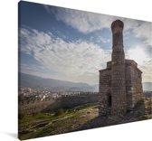 RuÏnes van oude kerk bij Efeze in Turkije Canvas 60x40 cm - Foto print op Canvas schilderij (Wanddecoratie woonkamer / slaapkamer)