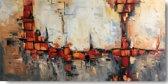 Schilderij abstracte kunst 120 x 60 Artello - Handgeschilderd - schilderij canvas - woonkamer schilderij - slaapkamer schilderij - schilderij - painting - kunst - schilderij groot