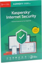 Kaspersky Internet Security | 5 Apparaten | 1 Jaar | Engelse verpakking | Alle Europese talen