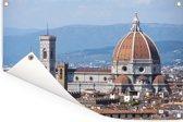 Panorama van de Dom van Florence Tuinposter 120x80 cm - Tuindoek / Buitencanvas / Schilderijen voor buiten (tuin decoratie)