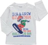 Losan Jongens Shirt Wit met print - I2 - Maat 92