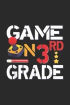 game on 3rd Grade: 3rd Grade Student Game Gaming On Third Grade Journal/Notebook Blank Lined Ruled 6x9 100 Pages
