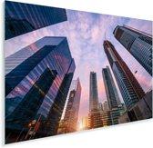Moderne wolkenkrabbers in de binnenstad van Toronto tijdens zonsondergang Plexiglas 30x20 cm - klein - Foto print op Glas (Plexiglas wanddecoratie)