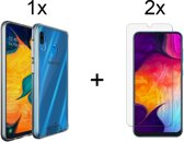 Samsung Galaxy A40 Hoesje - 2 Gratis Tempered Glass Screenprotector - Transparant