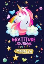 Gratitude Journal for Kids Madalyn
