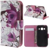 Lotus wallet hoesje Samsung Galaxy Ace 4 G357FZ