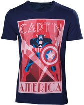 Marvel - Captain America Men's T-Shirt - Maat L