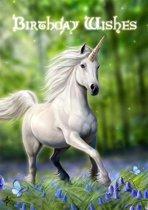 Anne Stokes verjaardagskaart Unicorn