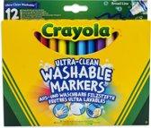 Crayola 12 Vilstiften Kegelpunt Ultra-Clean