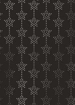 Cadeaupapier Kerst Sterren Zwart K891737/2 - Toonbankrol breedte 50 cm