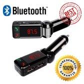 Bluetooth Handsfree Carkit + FM Transmitter + 2 USB poorten - Premium Kwaliteit