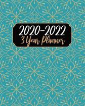 2020-2022 3 Year Planner: Blue Color, 36 Months Appointment Calendar, Agenda Schedule Organizer Logbook, Business Planners and Journal With Holi