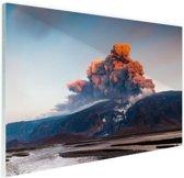 Vulkaan schoonheid van de natuur Glas 120x80 cm - Foto print op Glas (Plexiglas wanddecoratie)