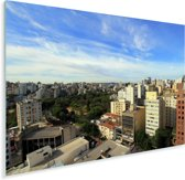 Luchtfoto van groene centrum van Porto Alegre in Brazilië Plexiglas 160x120 cm - Foto print op Glas (Plexiglas wanddecoratie) XXL / Groot formaat!