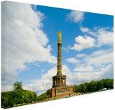 Overwinningszuil Berlijn Canvas 120x80 cm - Foto print op Canvas schilderij (Wanddecoratie woonkamer / slaapkamer) / Steden Canvas Schilderijen