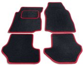 PK Automotive Complete Premium Velours Automatten Zwart Met Rode Rand Kia Cee'd 2007-2012