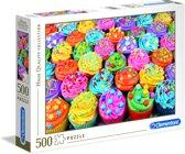 Clementoni - High Quality Collection puzzel - Colorful cupcakes - 500 stukjes