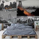 Fotobehang City Comic Style | VEXXXXL - 416cm x 290cm | 130gr/m2 Vlies