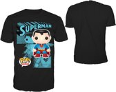 """Funko - T-Shirt Zwart """"Superman"""" Maat XL"""