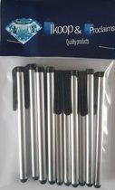 IKOOP & PROCLAIMS © 10 Stylus Pen voor Tablet en Smartphone Kleur Zilver.
