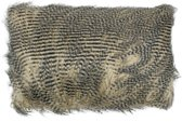 Mars & More Struisvogel - Sierkussen - 30x50 cm - Zwart/Bruin