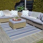 Buiten vloerkleed Essenza Stripe 200x290 - Blauw