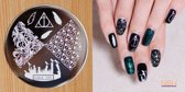 Stamping Plate 036 / nagel stempel- sjabloon