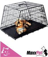 MaxxPet Autobench - Zwart - 78x47x55cm