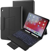 CaseBoutique Keyboard Folio Case - iPad Pro 12.9 2018 hoesje met Bluetooth Toetsenbord - Zwart - QWERTY