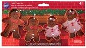 Wilton Koekjes Uitsteker Kerst Gingerbread Figuurtjes Set van 4