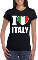 Zwart I love Italie fan shirt dames L