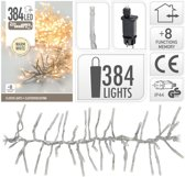 Clusterverlichting warm wit buiten 384 lampjes -  boomverlichting