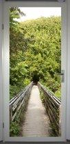 Deurposter 'Bamboebos' - deursticker 75x195 cm