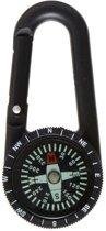 Zwart kompas met karabijnhaak - Kompassen