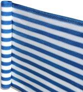 Balkonscherm - balkondoek - zonwering en privacy - 5 meter lengte - Wit en blauw